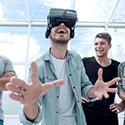 Menedżer uczy się w wirtualnej rzeczywistości