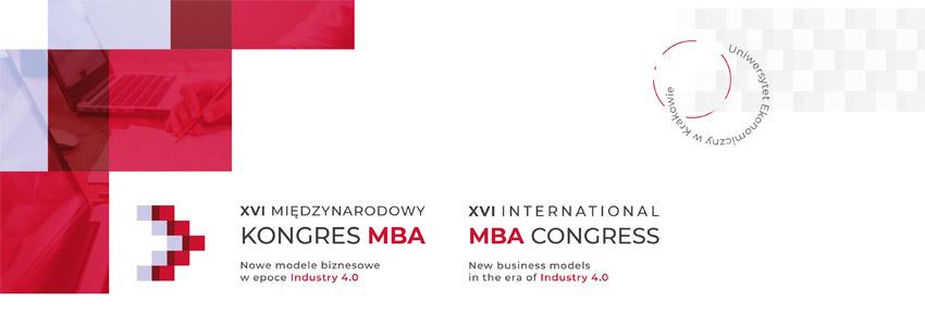 XVI e-Kongres MBA - Nowe modele biznesowe w epoce Industry 4.0